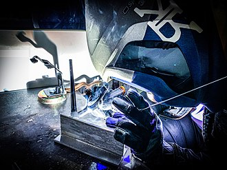 "Gas tungsten arc welding - GTAW ""TIG"" Welding demonstration."