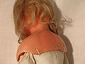 Pierotti wax doll from Frederic Aldis, London, 12, crack in the wax between neck and shoulder.JPG