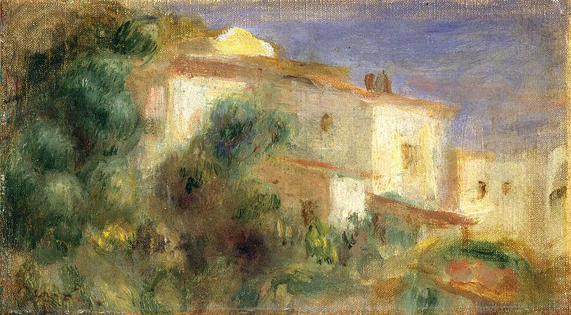 Ficheiro:Pierre-Auguste Renoir - Maison de la Poste, Cagnes.jpg