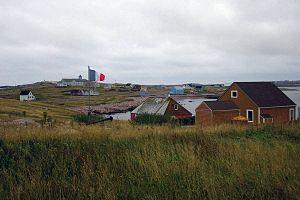Saint-Pierre, Saint Pierre and Miquelon - Saint-Pierre on a cloudy day.
