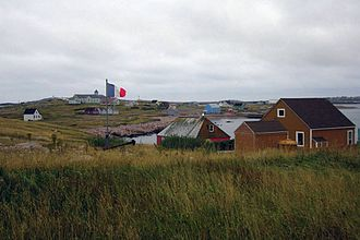 Saint-Pierre, Saint Pierre and Miquelon - Saint-Pierre on a cloudy day.