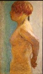 Torso of woman, profile