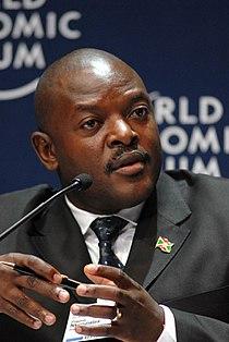 Pierre Nkurunziza - World Economic Forum on Africa 2008.jpg
