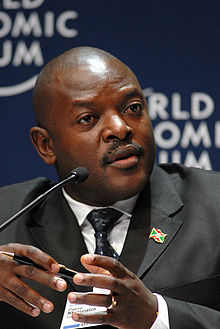 Pierre Nkurunziza at World Economic Forum 2008 looking right
