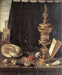Still Life with a Tall Covered Beaker