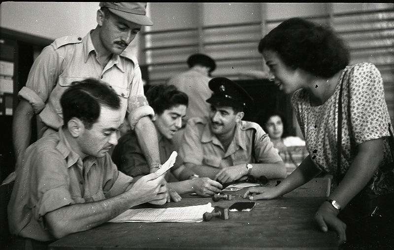 גיוס מתנדבים בפעולת בצר