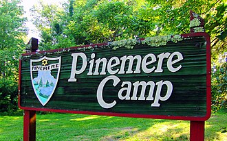 Pinemere Camp - Image: Pinemere sign