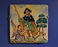 Placa amb sant Roc, Manises o València, segle XIX, museu de Ceràmica Gonzalez Martí.JPG