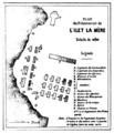 Plan du pénitencier de l'Ilet la Mère, Voyage dans la Guyane française Hachette, 1866, Cartographie.png