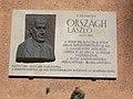 Plaque-relief of László Országh by Antal Czinder, 2017 Lipótváros.jpg