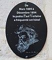 Plaque Paul Verlaine, 4 rue de Vaugirard, Paris 6e.jpg