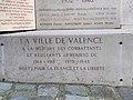 Plaque de la ville de Valence aux combattants arméniens - monument aux morts parc Jouvet.jpg