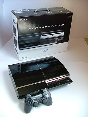 PlayStation 3 technical specifications - A PlayStation 3 console with a Sixaxis controller