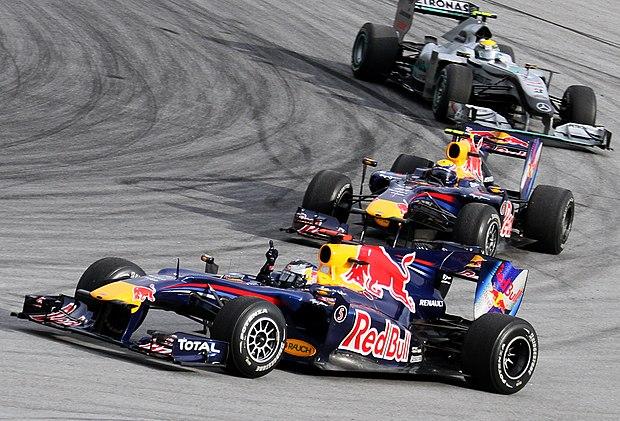 Podium finishers of 2010 Malaysian GP