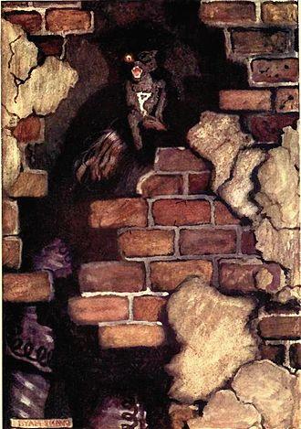 The Black Cat (short story) - Image: Poe black cat byam shaw