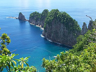 Vatia, American Samoa - View of Pola Island from the Tuafanua Trail.