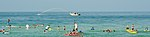 Police Fireboat spraying waterat Surfers for Autism.jpg