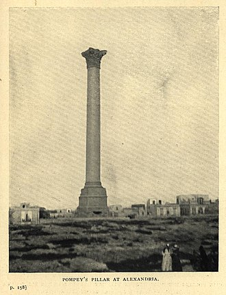 Pompey's Pillar (column) - Pompey's Pillar in 1911.