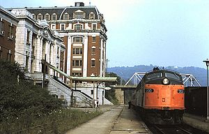 Potomac Special at Grafton station (1), August 1972.jpg