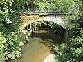 Préchacq-Josbaig (Pyr-Atl, Fr) le Lausset, pont du D135 vu du D25.JPG