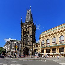 Prague 07-2016 Powder Tower from Republic Square.jpg