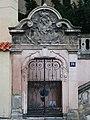 Praha Nove Mesto kostel sv Jana portal Vysehradska.JPG
