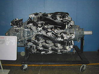 The Wasp Major, a four-row radial Pratt & Whitney R-4360 Wasp Major 1.jpg