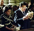 President Estrada and his wife at St. Patrick's Cathedral in New York (2000).jpg