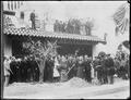 President Theodore Roosevelt replanting a Bahia tree originally planted in 1874 in Riverside, California. - NARA - 516538.tif