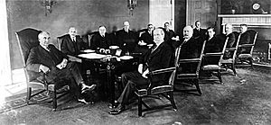Ohio Gang - Warren G. Harding and his cabinet (1921).