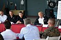 President meets leaders of storm-ravaged North Carolina at MCAS Cherry Point 180919-Z-DZ751-439 (44838220895).jpg