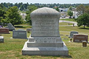 J. Proctor Knott - Knott's grave in Lebanon