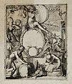 Proefdruk of ontwerp voor een onbekende titelprent, zonder boektitel maar met motto Ora et Labora, NL-HlmNHA 53008788.JPG