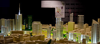 Porta Nuova (Milan) - A scale model of the new development.