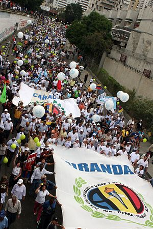 Democratic Action (Venezuela) - AD posters during a rally in support of RCTV in 2007