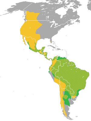 Puma (genus) - Image: Puma (genus) range
