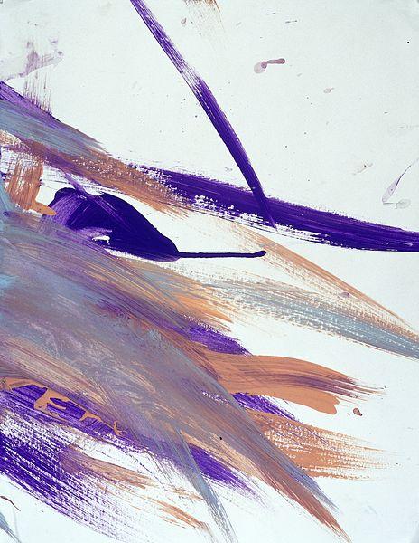 File:Purple, orange and grey streaks. Watercolour by Tonka, 2000. Wellcome L0030349.jpg