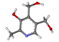 Pyridoxine ball-and-stick.png