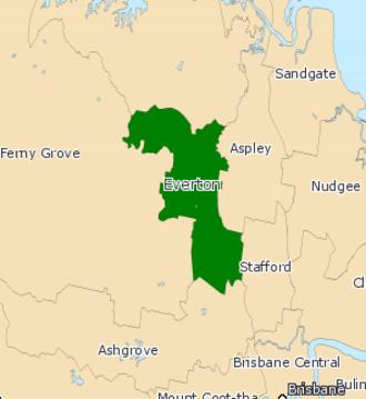 Electoral district of Everton - 2008 electoral district map
