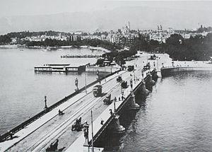 Quaibrücke, Zürich - Quaibrücke around 1890