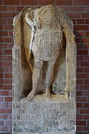 Tiberius Julius Abdes Pantera - Tiberius Pantera's tombstone in Bad Kreuznach