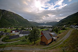Røldal (municipality) - View of the village of Røldal