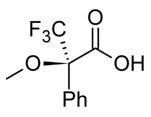 Chiral derivatizing agent - (R)-α-methoxy-α-(trifluoromethyl)- phenylacetic acid (Mosher's acid)