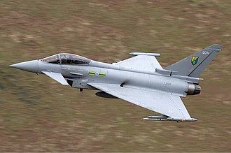 Eurofighter Typhoon - An RAF Typhoon flying through the Mach Loop