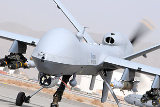 Operation Shader - An RAF MQ-9 Reaper, similar to the one used in the strike against Rayeed Khan and Rahoul Amin in Syria.