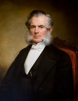 Elisha Dyer - Official Rhode Island State House portrait by James Sullivan Lincoln