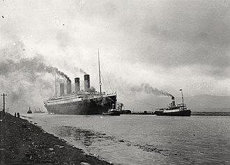 Sinking of the RMS Titanic - Titanic on her sea trials, 2 April 1912