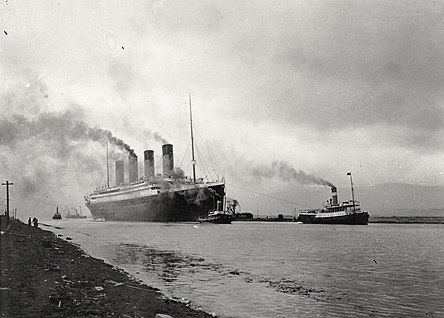 RMS Titanic (April 2, 1912). RMS Titanic sea trials April 2, 1912.jpg