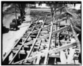 ROOF FRAMING IN ELL LOOKING NORTH - Penacook House, Daniel Webster Highway (U.S. Route 3), Boscawen, Merrimack County, NH HABS NH,7-BOSC,1-72.tif