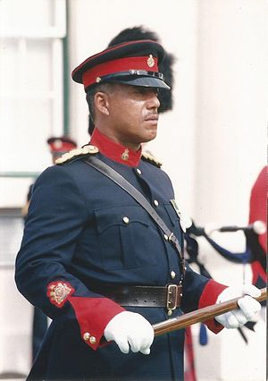 Warrant officer - The Regimental Sergeant Major of the Royal Bermuda Regiment, WO1 Herman Eve, in 1992